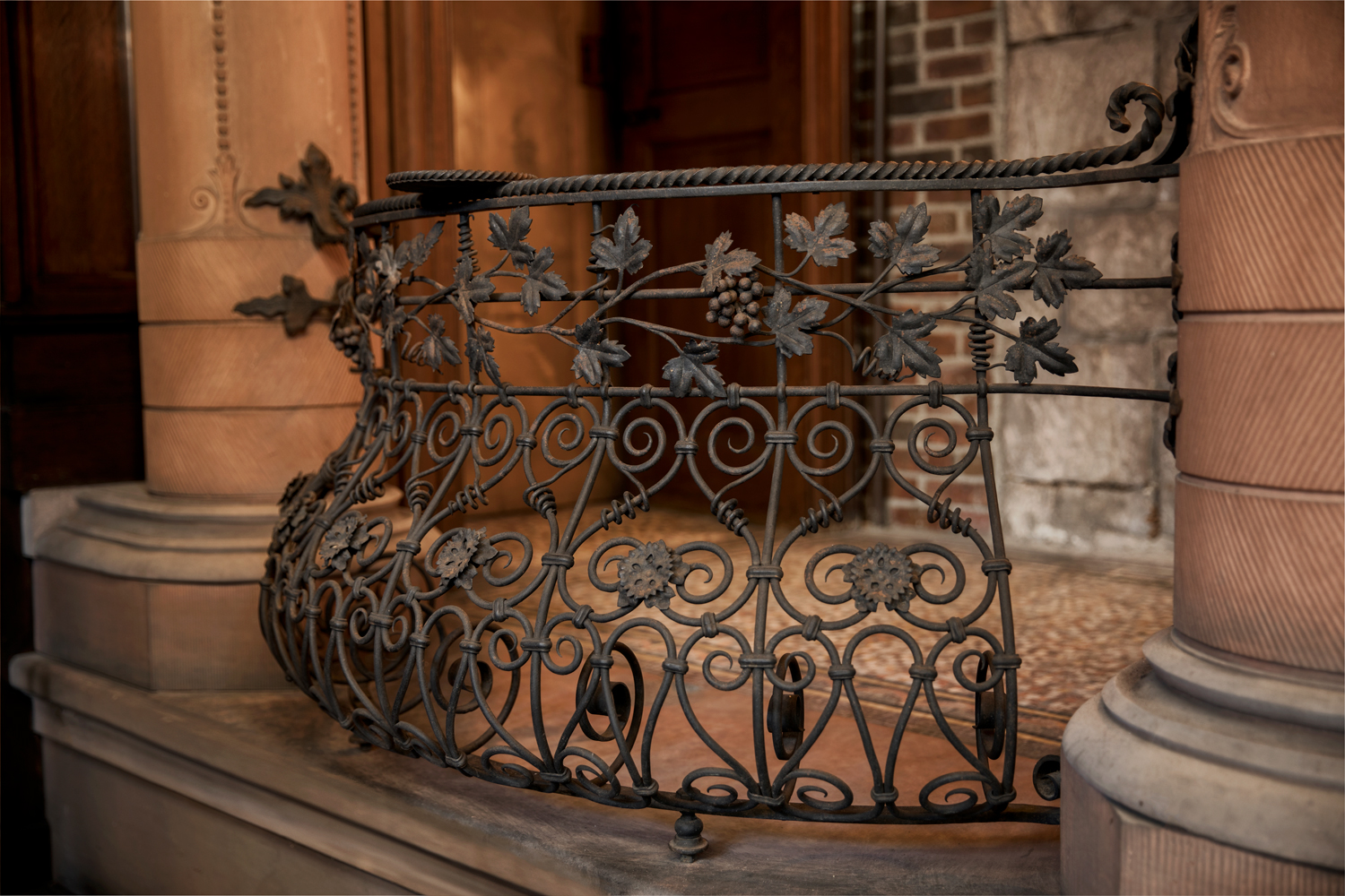 Maybrook Mansion - exterior metalwork detail